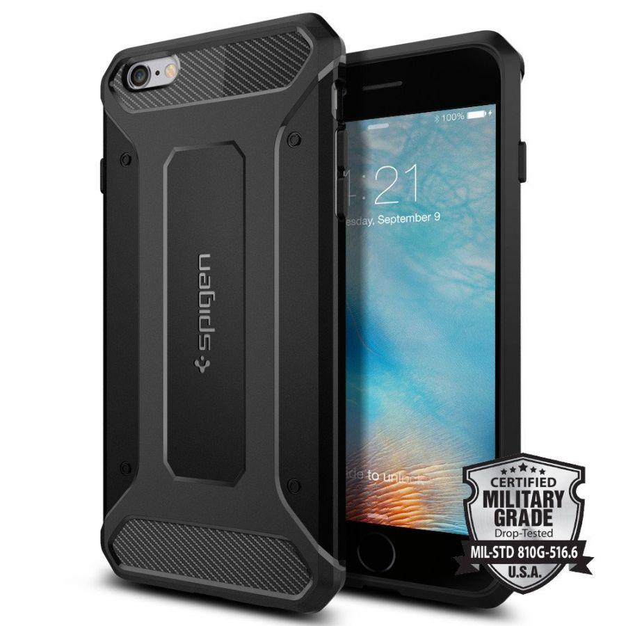 Чехол Spigen Rugget Armor для iPhone 6 Plus/6S Plus черный