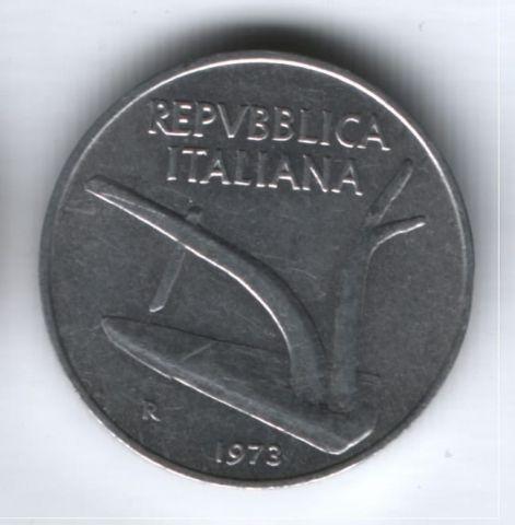 10 лир 1973 г. Италия