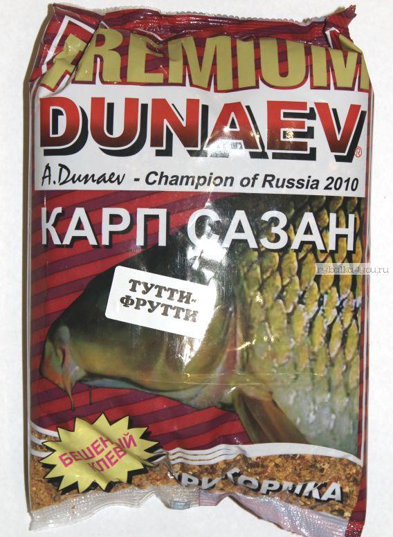 Прикормка Dunaev Premium  1кг Карп-Карась-Сазан (Тутти Фрутти)