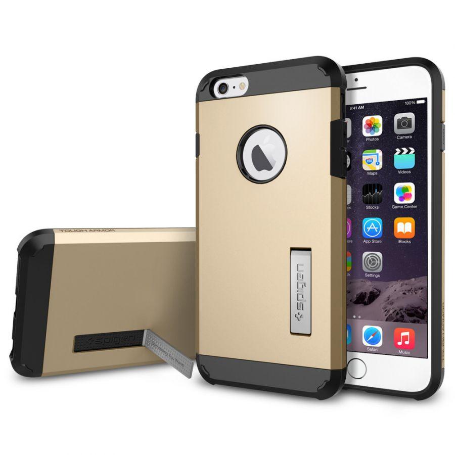 Чехол Spigen Tough Armor для iPhone 6S Plus золотой
