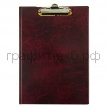 Папка-доска с верх.заж.мрам.красный Durable 2355-03