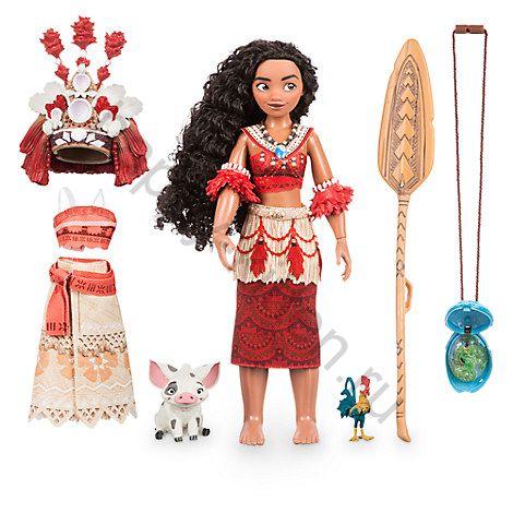 Кукла Моана поющая с одеждой и кулоном Дисней