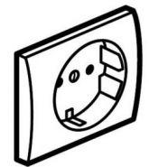 Накладка розетки с з/к со шт. Legrand Galea Life Pearl (арт.771521)