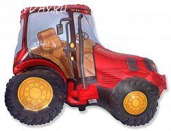 Шар (37''/94 см) Фигура, Трактор, Красный