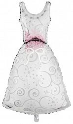 Шар (41''/104 см) Фигура, Платье невесты