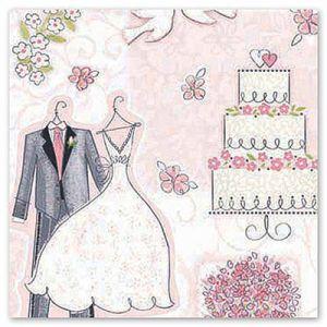 Скатерть бумажная Свадьба (140см/260см)