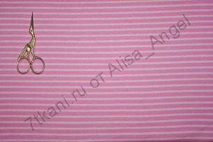 Розовая полоса рибана с лайкрой