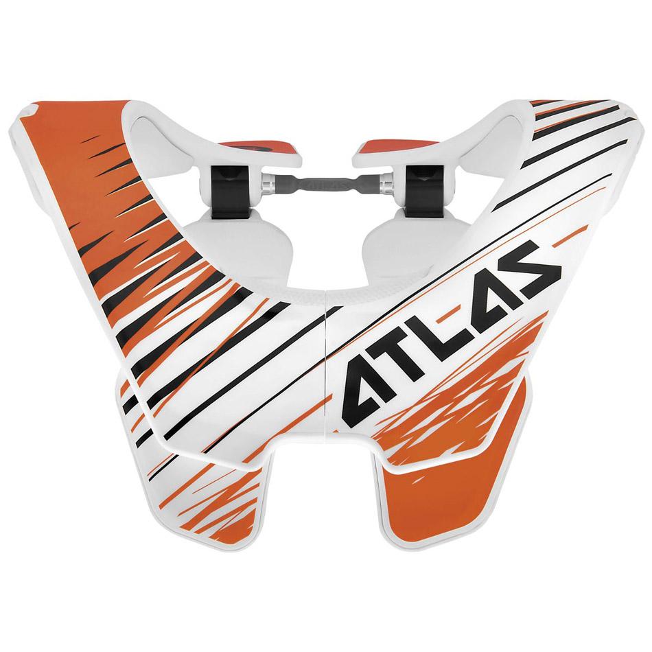 Atlas - Air Twister защита шеи, бело-оранжево-черная