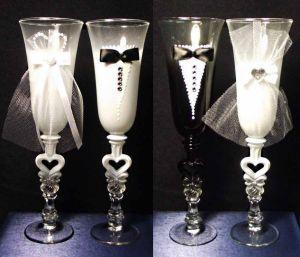 Хрустальные бокалы Жених и Невеста (2 шт)