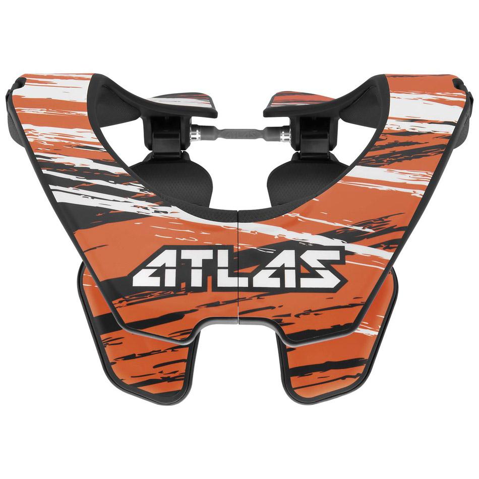 Atlas - 2017 Prodigy Brush Jr защита шеи подростковая (74-84 см), оранжево-черная