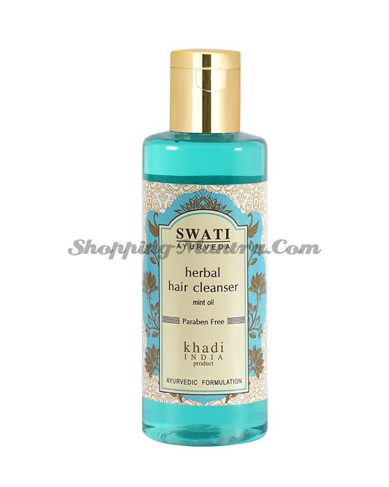Травяной шампунь с маслом Мяты Свати Аюрведа / Swati Ayurveda Mint Oil Herbal Shampoo