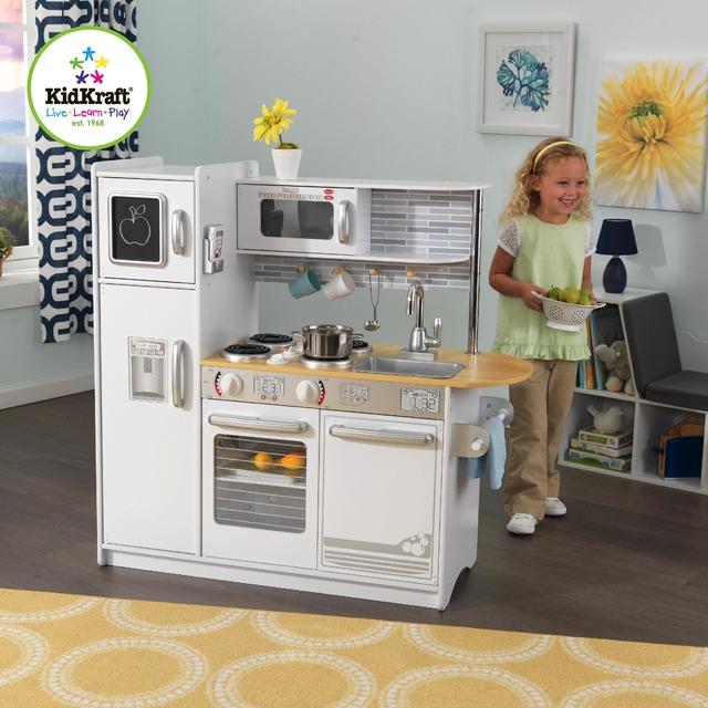 Детская деревянная кухня Kidkraft белая 53364