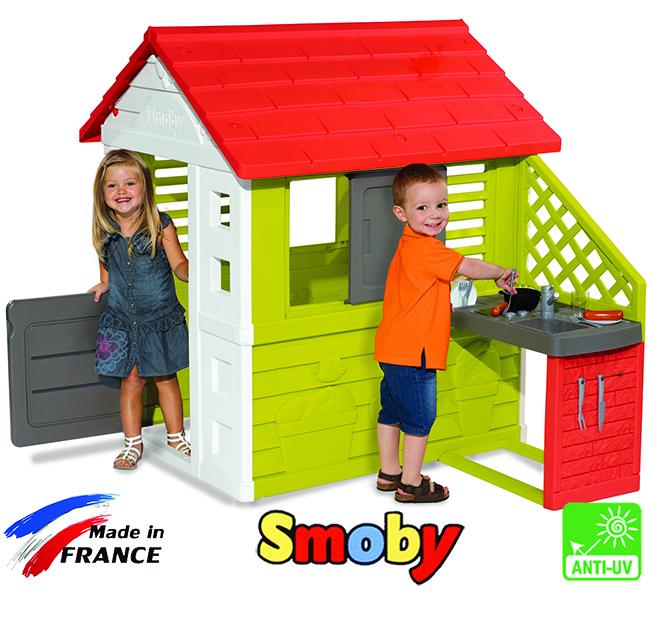 Домик уличный smoby + кухня
