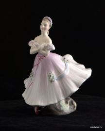 Балерина в розовом, Royal Doulton, Великобритания, 1952 год