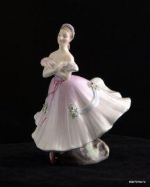 Балерина в розовом. Royal Doulton, Великобритания. 1952 год.