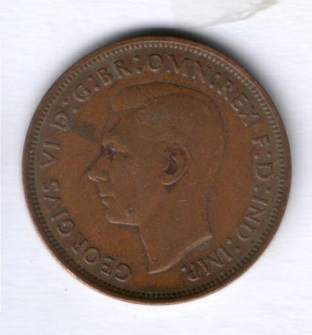 1 пенни 1945 г. Великобритания