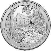 25 центов США 2017, 38-й Национальные водные пути Озарк, Ozark National Scenic Riverways