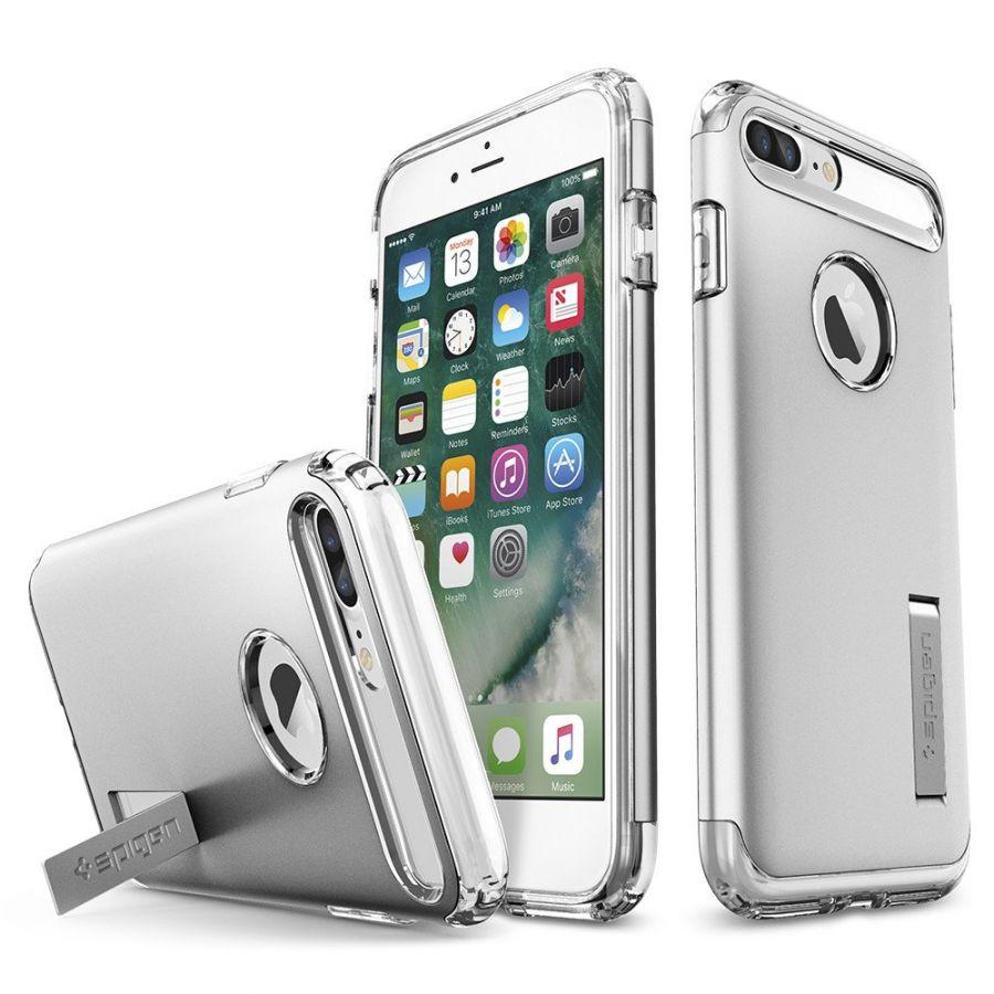 Чехол Spigen Slim Armor для iPhone 7 Plus серебристый