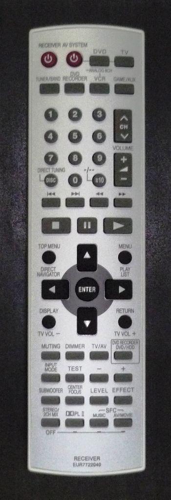 Panasonic EUR7722040 (home theater) (SA-HT05EP S)