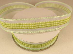 Лента декоративная, ширина 25 мм(313101), цвет: №8 зеленый (бобина 20+-0,3 ярдов)
