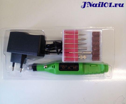 Машинка для аппаратного маникюра YC-01 зеленая 3000-20000 об/м
