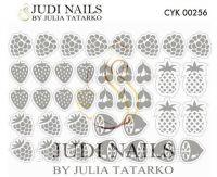 Трафарет Deep design для дизайна ногтей #256