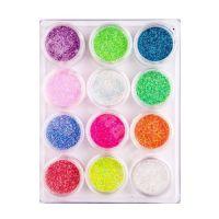 Песок для дизайна цветной, набор, 12 шт