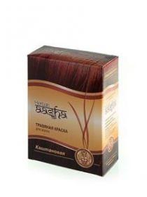 Каштановая Травяная краска для волос Ааша Хербалс (AASHA Herbals) 6 пак по 10г