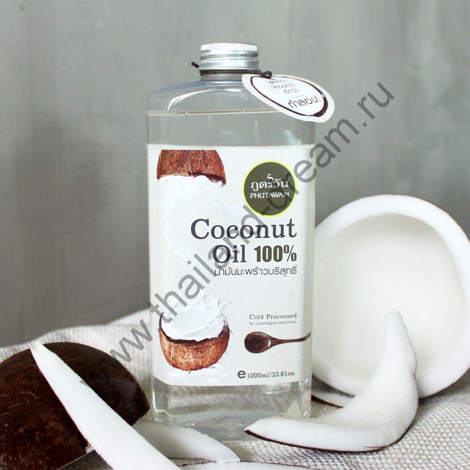 Кокосовое масло холодного отжима Phutawan 1л