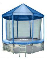 Батут с внутренней защитной сеткой и синей крышей - Optifit Like Blue 16 FT (4,88м)