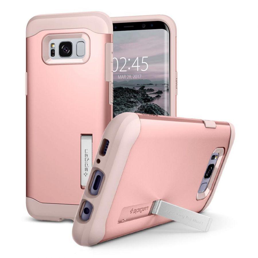 Чехол Spigen Slim Armor для Samsung Galaxy S8+ розовое золото