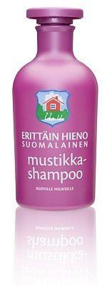 Шампунь черничный Erittäin Hieno Suomalainen hiuksille