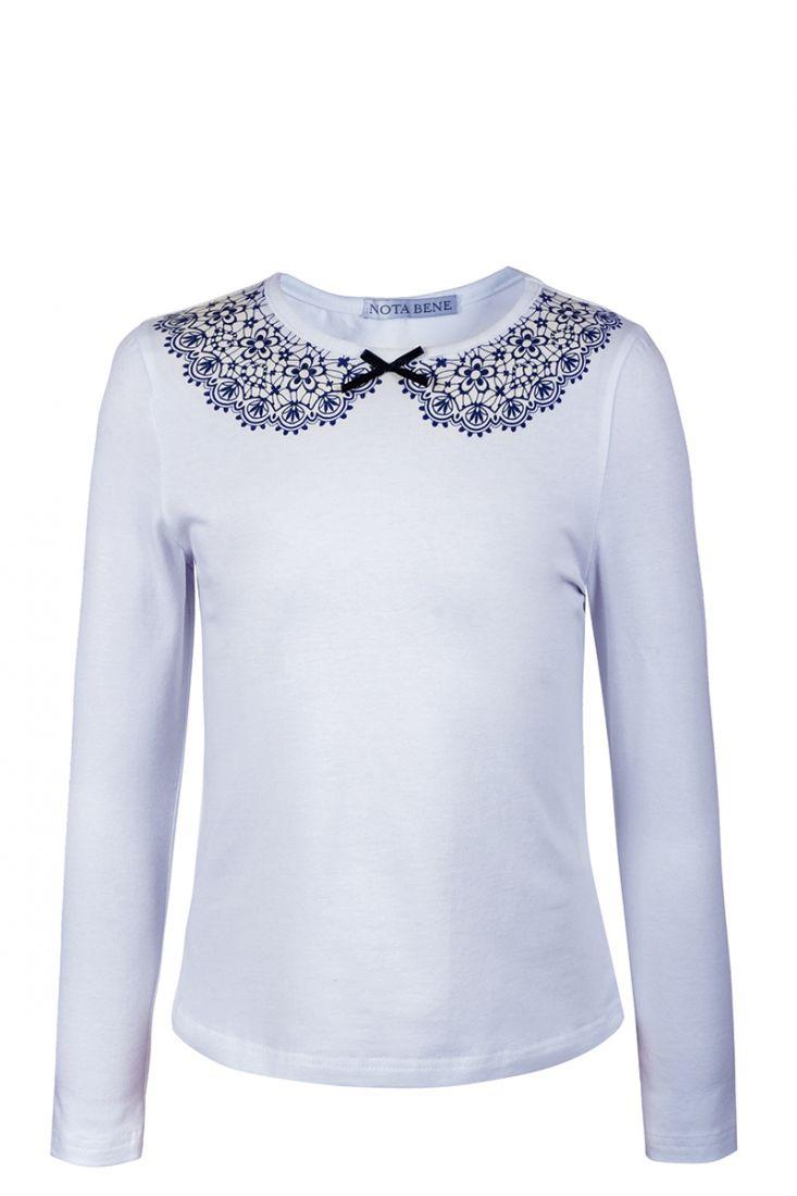Блузка для девочки голубая