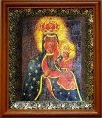 Тывровская икона БМ (19х22), светлый киот