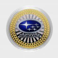 10 РУБЛЕЙ Subaru ЦВЕТНАЯ ЭМАЛЬ - СЕРИЯ АВТОМОБИЛИ МИРА - ЯПОНСКИЕ