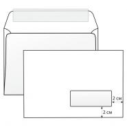 Конверт С5 162*229  белый правое окно отрывная лента