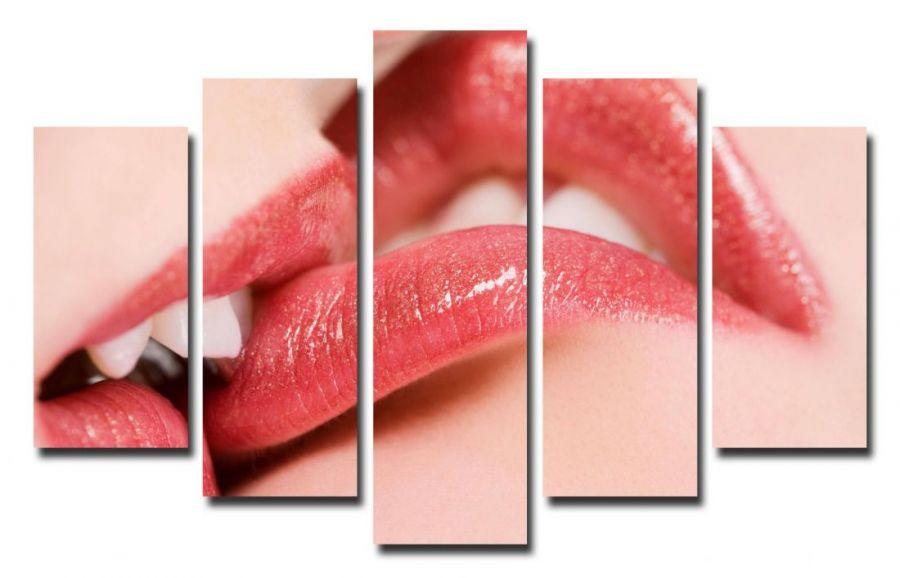 Модульная картина Женские губы