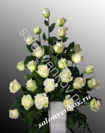Траурный букет  из живых цветов N1