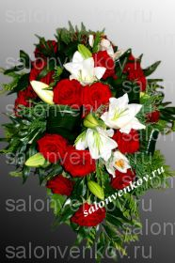 Траурный букет из живых цветов N6