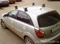 Багажник на крышу Kia Rio, Атлант, прямоугольные дуги