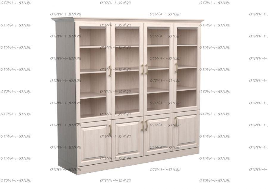 Шкаф-библиотека 4-дверный Эдем Массив DreamLine (180х48х220)
