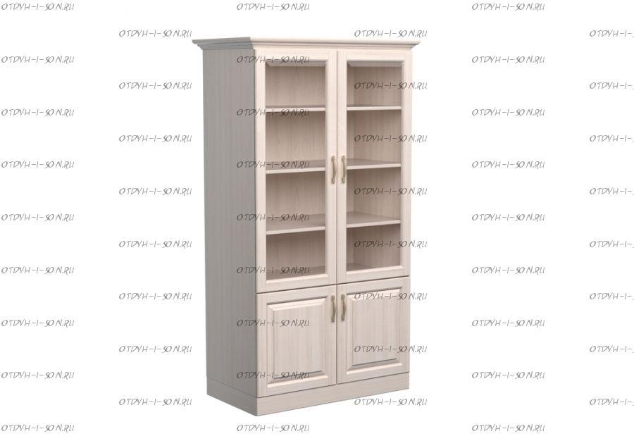 Шкаф-библиотека 2-дверный Эдем Массив DreamLine (90х48х220)