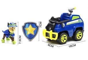 Фигурка Гонщика на полицейской машине с музыкой и светом, серия Джунгли