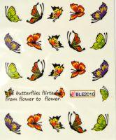 Водная наклейка для дизайна ногтей BLE 2010