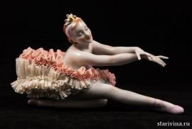 Балерина Лебедь, кружевница, Unterweissbach, Германия