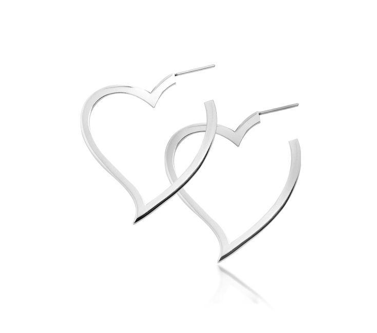 Серьги INORI Hearts Silhouette из ювелирной стали