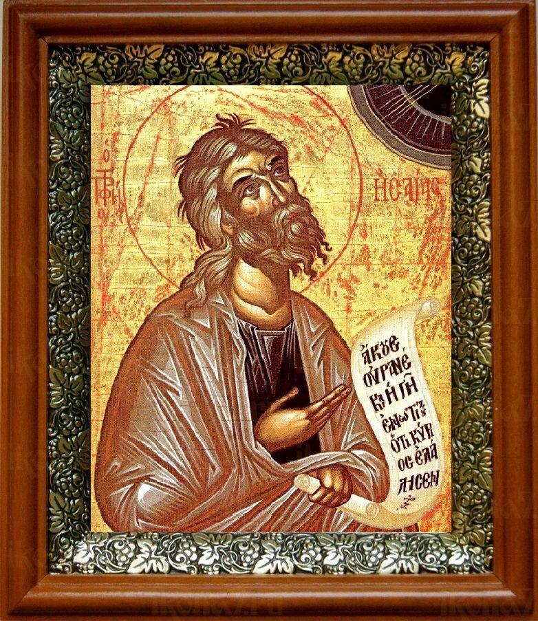Пророк Исаия (19х22), светлый киот