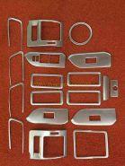 Накладки в салон серебро для Toyota Land Cruiser Prado 150