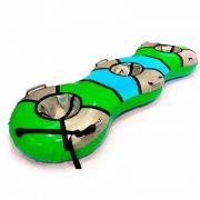 Тюбинг-банан зеленый для катания втроем
