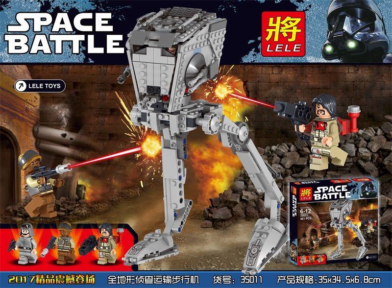 """Конструктор Lele Space Battle  """"Имперский разведовательный вездеход"""" 471 деталей No.35011 ( starwars 75153 )"""